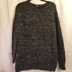 Sparkle and Fade long sweater knit chunky tunic